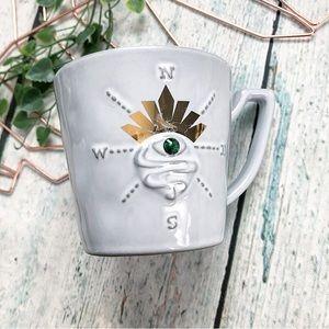 Starbucks 2014 Mug gray compass crystal eye crown